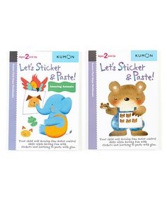 This Let's Sticker & Paste Workbook Set by Kumon Publishing is perfect! #zulilyfinds