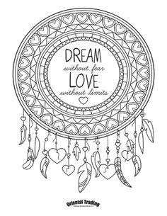dreamcatcher adult coloring page 320414 - Dream Catcher Coloring Pages