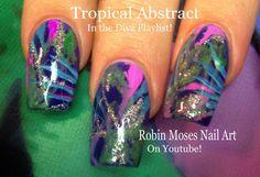 Abstract Tropical Nails! #nailart #tutorial #howtonails #nailsDIY #nailartdiy #diynailart #palmtree #nailart #abstractnails #nails #tropical #naildesign #nailartdesign #diva #divanails