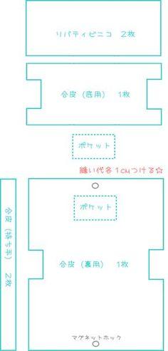 【無料型紙製図】リバティミニトートの作り方 - あぁっ ハンドメイド☆ラヴ