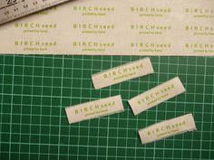 B I R C H s e e d -- printed by hand: tutorial - how to make home made cloth labels for clothes and products How To Make Iron, Make Your Own Tshirt, Home Crafts, Diy Crafts, Iron On Labels, Sewing Labels, How To Make Labels, Yes I Did, Name Tags