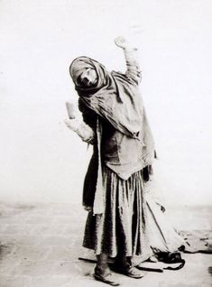 Gypsy dancer. One of Antoin Sevruguin's historical Iran photographs.