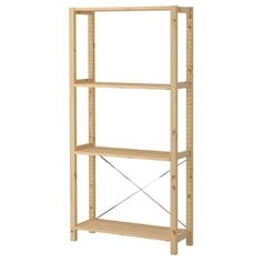 IKEA - IVAR, 2 section unit with foldable table, pine, Solid pine is a natural material which ages beautifully and gains its own unique character over time. You can personalize the furniture even more by staining or painting it your favorite color. Painted Table Tops, Pine Shelves, Book Shelves, Pine Doors, Foldable Table, Bamboo Weaving, Ikea Family, At Home Furniture Store