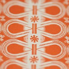 'Judd St Eric Ravilious' decorative paper in orange by English designer, illustrator & artist Eric Ravilious (1903-1942). available via Falkiner Fine Papers