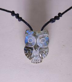 Owl necklace Labradorite Stone Shamanic Talisman by shamanstones