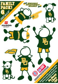 cute decals for the whole #Baylor family!