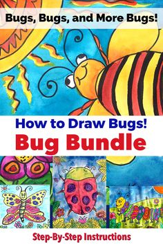 Bug Art Lessons -Bundled 4 bugs for the price of 3