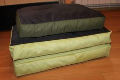 Set of handmade mattresses, for small/medium size dogs (2x40/60 cm and 1x35/50 cm), manually sewn and finished, made from resistant materials, thickness 10 cm, filled with silicone fluff and comfortable for any furry pets.Unique design! The covers is washable at 30 ° C.
