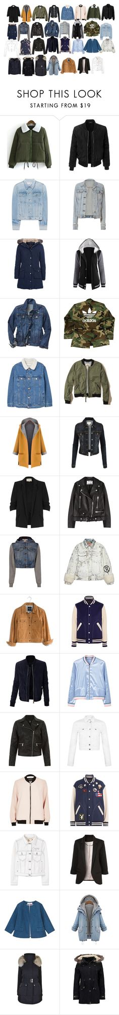 """""""1 of those weaks"""" by lilymadoxx on Polyvore featuring LE3NO, rag & bone, Barbour, Gap, adidas, MANGO, Hollister Co., WithChic, River Island and Acne Studios"""