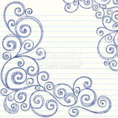 Sketchy Swirls Notebook Doodles Vector