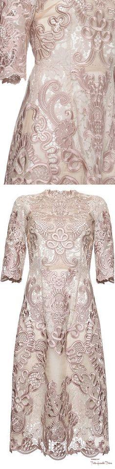 Dolce & Gabbana Fall 2015 Organza Lace Macrame Dress ♔THD♔