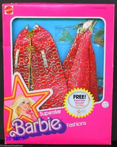 1976 SUPERSTAR BARBIE FASHIONS BROCADE SHINE FOR T.V. TIME Promotional NRFB MIB