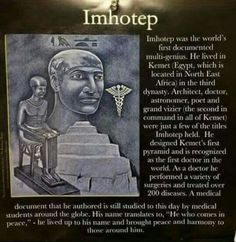 Imhotep, Black Genius