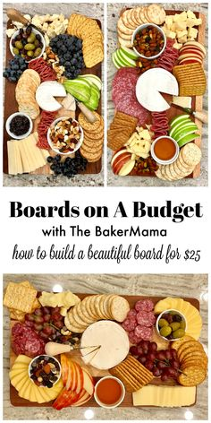 Learn how to build a charcuterie board on a budget. A Charcuterie board is great for entertaining and parties. Charcuterie Recipes, Charcuterie And Cheese Board, Charcuterie Platter, Cheese Boards, Antipasto Platter, Charcuterie For Dinner, Crudite Platter Ideas, Grazing Platter Ideas, Cheese Board Display