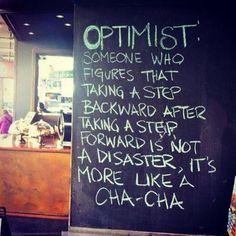 Enjoy the cha-cha . . .