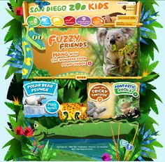 San Diego Zoo Kids is an amazingly beautiful interactive site for kids. They can watch videos, play games, access animal webcams, learn about zoo jobs, and even get instructions for a craft or two.