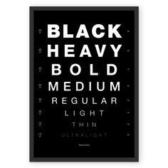 Poster Vista Helvetica / Preto de @zildo | Colab55