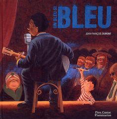 """Quel bonheur de découvrirl'albumUn bleu si bleu, deJean-François Dumont! On y trouve un petit garçon qui, d'aprèsson entourage, est appelé à devenir un grand artiste. L'enfantpart en quêted'une couleur bien précise: il cherche partoutune teinte de bleu, le bleu de ses rêves, """"un bleu profond et lumineux"""