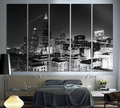 Modern Wall Art - Chicago Skyline Canvas Print
