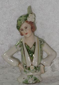 Inga Porcelain Pin Cushion Half Doll