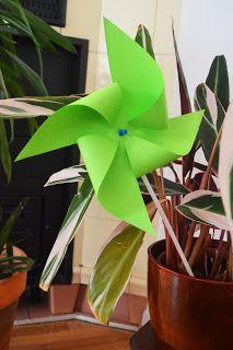 Windmühle aus Papier basteln - kostenlose Anleitung