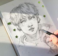 By _su_art kpop drawings, k pop, kpop fanart, bts jungkook, bts memes Fan Art, Fanart Bts, Kpop Drawings, Bts Wallpaper, K Pop, Drawing Reference, Drawing Sketches, Art Inspo, Art Projects