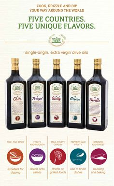 Single origin extra-virgin olive oils are divine for finishing your meals... They also make fantastic gifts for the cooks in your life!