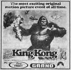 Released on Dec. Classic Sci Fi, Classic Movies, Sci Fi Horror Movies, Vintage Newspaper, Creature Feature, King Kong, Godzilla, Science Fiction, Universe