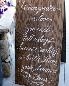 """See+the+""""Sweet+Signage""""+in+our+A+Pink+Rustic+Wedding+in+a+Barn+in+Colorado+gallery"""