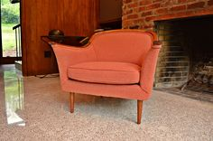 Mid Century Bentwood Trim Club Chair by DirtyGirlsAntiques on Etsy