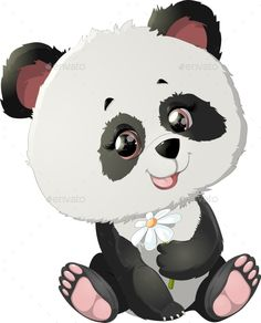 Buy Panda Bear Illustrations by on GraphicRiver. Beautiful panda which is drawn on a white background Panda Background, Panda Lindo, Bear Vector, Panda Party, Barbie, Bear Illustration, Photoshop, Cute Clipart, Cute Panda