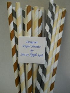 S'mores Chocolate Paper Straw Set by JazzyAppleGal on Etsy, $3.85