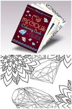 Gemstone Coloring Book For Adults With Diamond Guide PDF Coloriing Pages Grown Ups By Shaman Shore