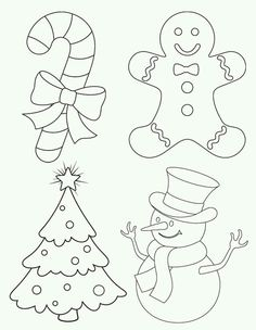 53 Christmas Coloring & Activity Pages for Endless Holiday Entertainment 4 Christmas pictures - Free Printable Coloring Pages Christmas Items, Christmas Colors, Christmas Art, Christmas Ornaments, Christmas Sheets, Christmas Drawing, Elegant Christmas, Christmas Nativity, Felt Ornaments