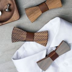 The Ultimate Gift Guide For The Modern Man (40+ Ideas!) | Give the modern man in your life a wood bow-tie that he won't have to fuss around with trying to tie up.