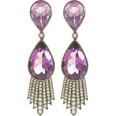 Rose of France & Amethyst Talula Earrings (€6.290) ❤ liked on Polyvore featuring jewelry, earrings, purple, accessories, women, earring jewelry, 18k earrings, rose jewellery, rose earrings and purple amethyst earrings