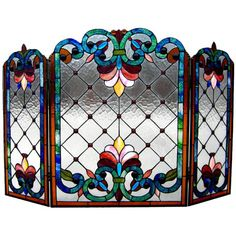Chloe Lighting Tiffany Style Victorian Fireplace Screen with 79 Cabochons - CH44B912FS