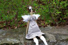 Tilda Angel Doll Princess Vintage Handicrafts by RoyalHandicrafts Handicraft, Fancy Dress, Garden Sculpture, Wings, Vintage Fashion, Angel, Dolls, Princess, Spring