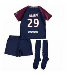 PSG Kylian Mbappe 29 Hemmaställ Barn 17-18 Kortärmad Psg, Paris Saint, Saint Germain, Saints, Trunks, Swimming, Swimwear, Fashion, Drift Wood