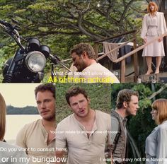 Chris Pratt adding humor to Jurassic world