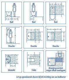 standaardmaten badkamer - Google zoeken