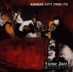 1996 Victor Jazz History Vol.10: Kansas City (1935-71) [RCA 74321285642] cover painting by Alice Choné #albumcover