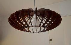 Laser made ceiling lamp. via Etsy.