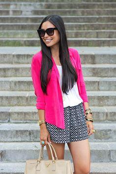 Fuchsia magenta blazer Love it! Fashion fashionista