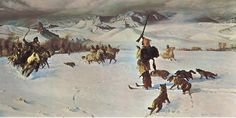 Fur Trappers and Mountain Men | JOHN COLTER MEETS THE CROWS, during his amazing winter trek in 1807-08 ...