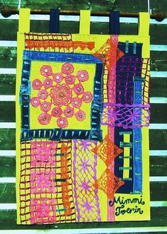 "Tapestry   -""Screaming; Spring!""-  Mimmi Tverin 2010  83x104cm   http://www.pipardildas.com/6"