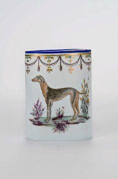 Spain or Bohemia, milk glass, late 18th c, side 2