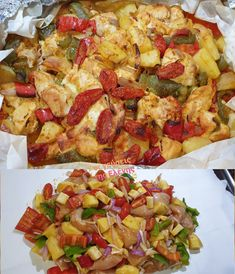 Cooking Time, Cooking Recipes, Healthy Recipes, Greek Recipes, Hawaiian Pizza, Vegetable Pizza, Potato Salad, Biscuits, Spaghetti
