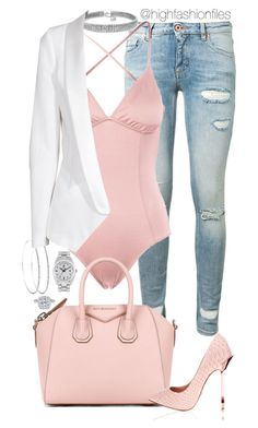"""Spoiled"" by highfashionfiles ❤ liked on Polyvore featuring Off-White, Eberjey, Givenchy, Rolex, Bling Jewelry, SLY 010 and Ritani"