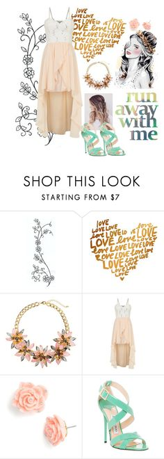"""""""Beauty"""" by alethiaangel ❤ liked on Polyvore featuring H&M, Cameo Rose, Betsey Johnson and Jimmy Choo"""